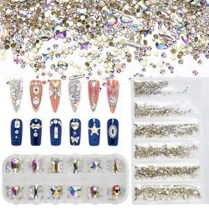 Nail Art Diamonds Multi Shape ab Crystal
